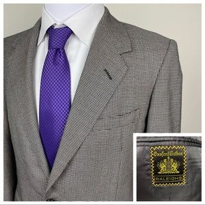 OXXFORD 100% Cashmere Houndstooth Sport Coat 41